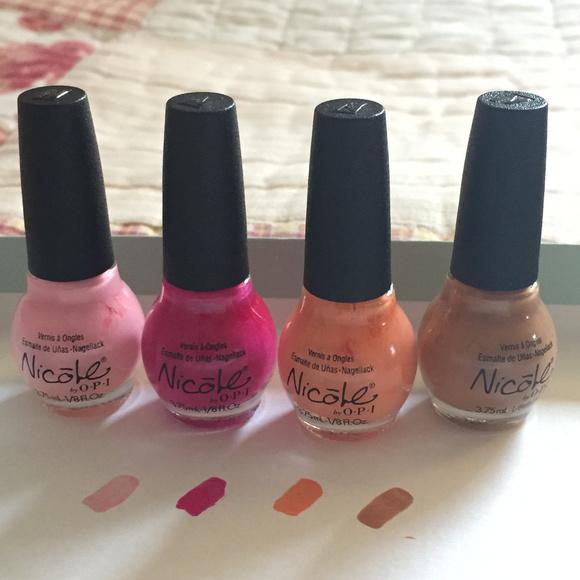 OPI Makeup | Nicole By Set Of 4 Mini Nail Polishes | Poshmark